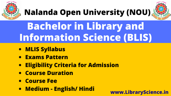 Bachelor of Library Science (BLIS)