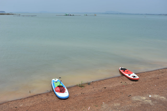 Du lịch sinh thái, chèo SUP trên Hồ Trị An