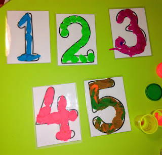 Numbers play dough