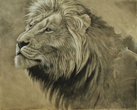 "A new charcoal just completed. This was a big piece at 32""X40"""
