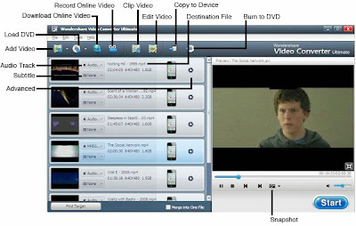 Screen Shoot Wondershare Video Converter Ultimate 8.0