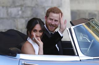 Newlywed Prince Harry and Meghan Marke