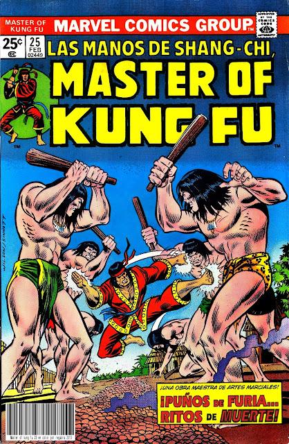 Portada de Master of Kung Fu Nº 25 traducido