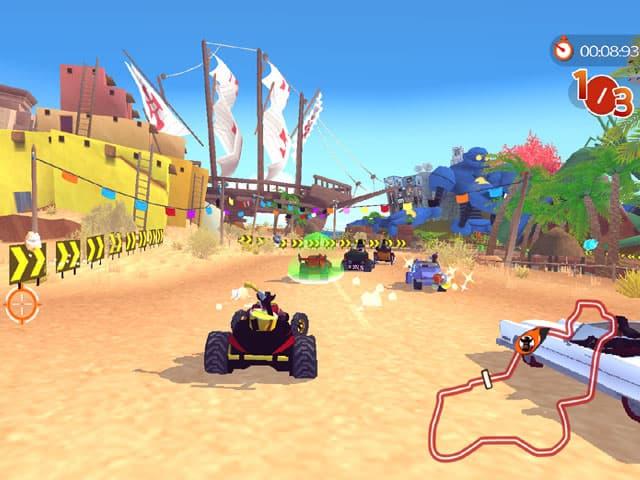 لعبة سباق سيارات الشاطئ