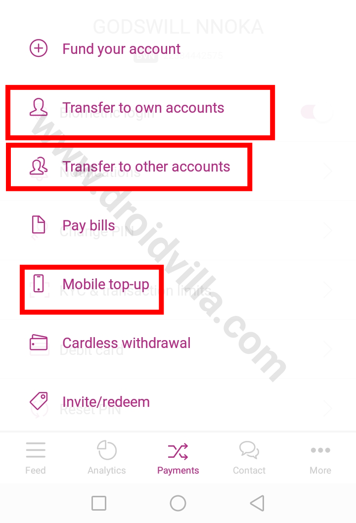 Buy data or airtime with vbank free n500