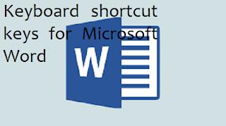 Keyboard shortcut keys for Microsoft Word