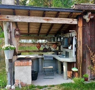 simple kitchen design for village
