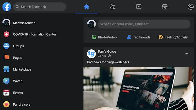 فيس بوك يتيح أخيرًا الوضع المظلم لمستخدمي سطح المكتب