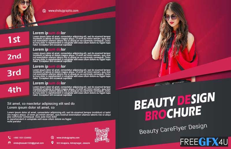 Skincare and Beauty Clinic Bi Fold Brochure Design