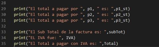 Mostrar resultados en Python