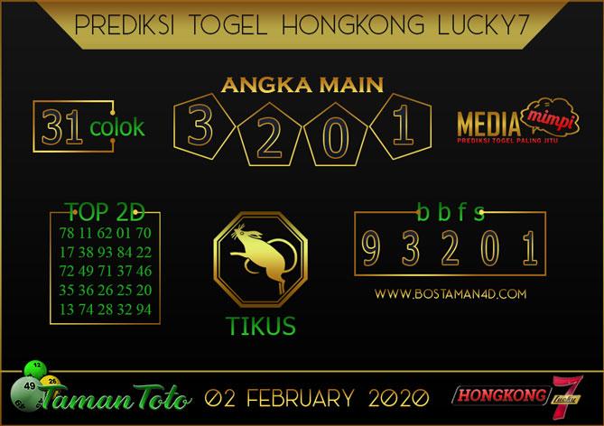 Prediksi Togel HONGKONG LUCKY 7 TAMAN TOTO 02 FEBRUARY 2020