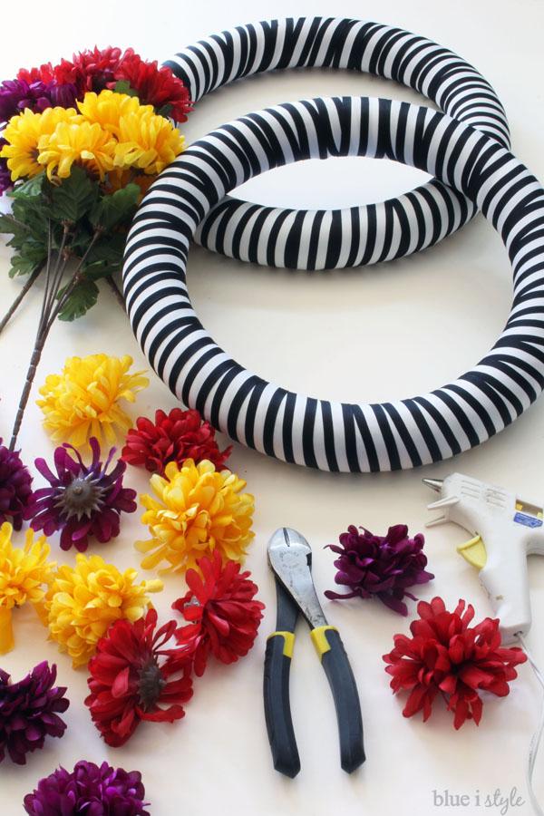 Dia de los Muertos wreath tutorial