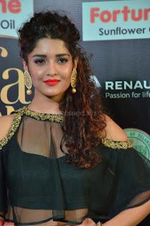Ritika Singh in a Ethnic Deep Neck Dark Green Choli Ghagra at IIFA Utsavam Awards March 2017