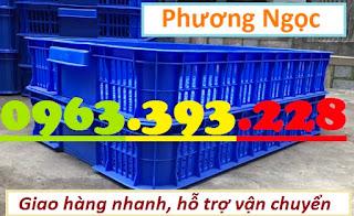 Sóng nhựa hở HS010, sọt nhựa cao 10 đựng nông sản, thùng nhựa rỗng HS010 SR4