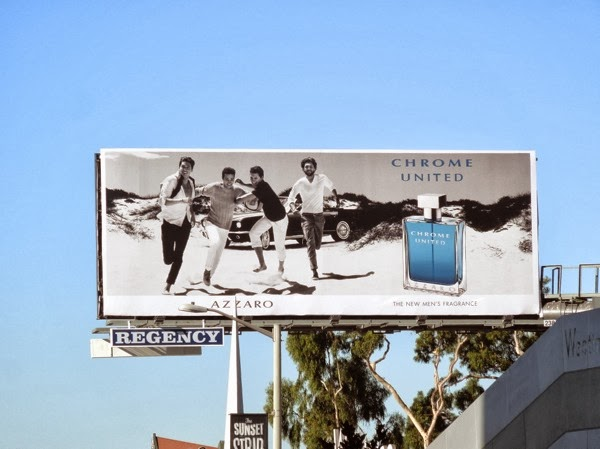 Azzaro Chrome United mens fragrance billboard