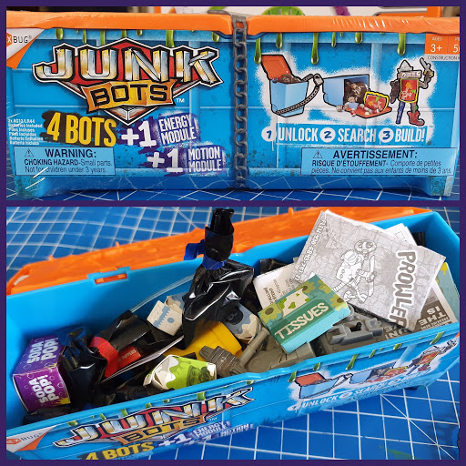 Hexbug Junk Bots review Age 3+ dumpster full of really exciting  trash