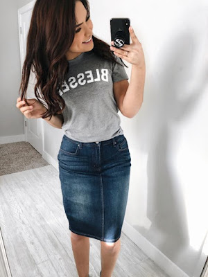 Estilo de saia jeans