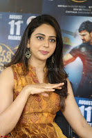 Rakul Preet Singh smiling Beautyin Brown Deep neck Sleeveless Gown at her interview 2.8.17 ~  Exclusive Celebrities Galleries 082.JPG
