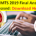 SSC MTS 2019 Final Answer Key Released: Download Here