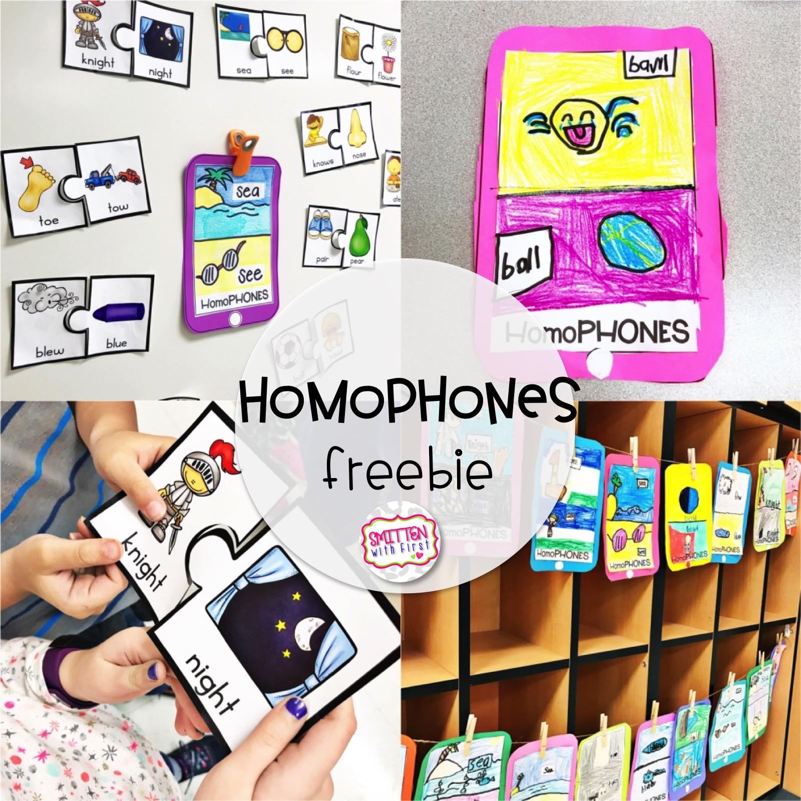 Homophones And Antonyms