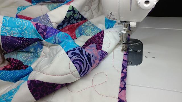 Sewing binding by machine