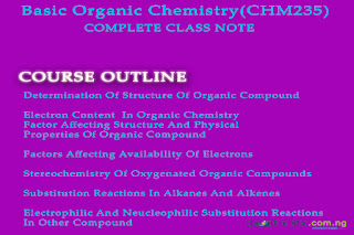 Basic Organic Chemistry(CHM235) Complete Note (Download)
