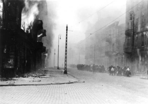 Warsaw Ghetto Uprising - Warsaw Ghetto Burning