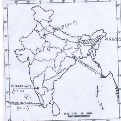 CBSE Class 12th Geography Important Map-based Questions with Solutions | WiN EXAN