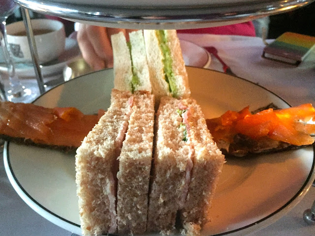 Sandwich platter for afternoon tea in The Witchery by the Castle, Edinburgh
