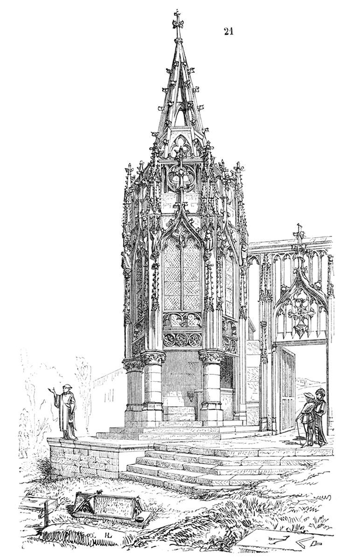 10-The-Recevresse-Avioth-France-Eugène-Viollet-le-Duc-Gothic-Drawings-from-an-Architect-in-18th-Century-www-designstack-co