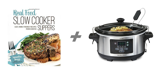 Real Food Slow Cooker Suppers by Samantha Skaggs + Hamilton Beach Set 'n Forget Programmable Slow Cooker