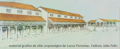 lucus feronia reconstrucao grafica guia brasileira roma - Lucus Feroniae, Colônia Julia Felix