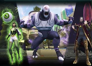 Ermerald Empress, Validus and Mordru at DC Universe Online