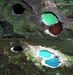 Kawah danau Kelimutu