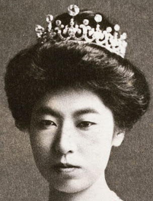 meiji scroll tiara japan diamond empress shoken teimei