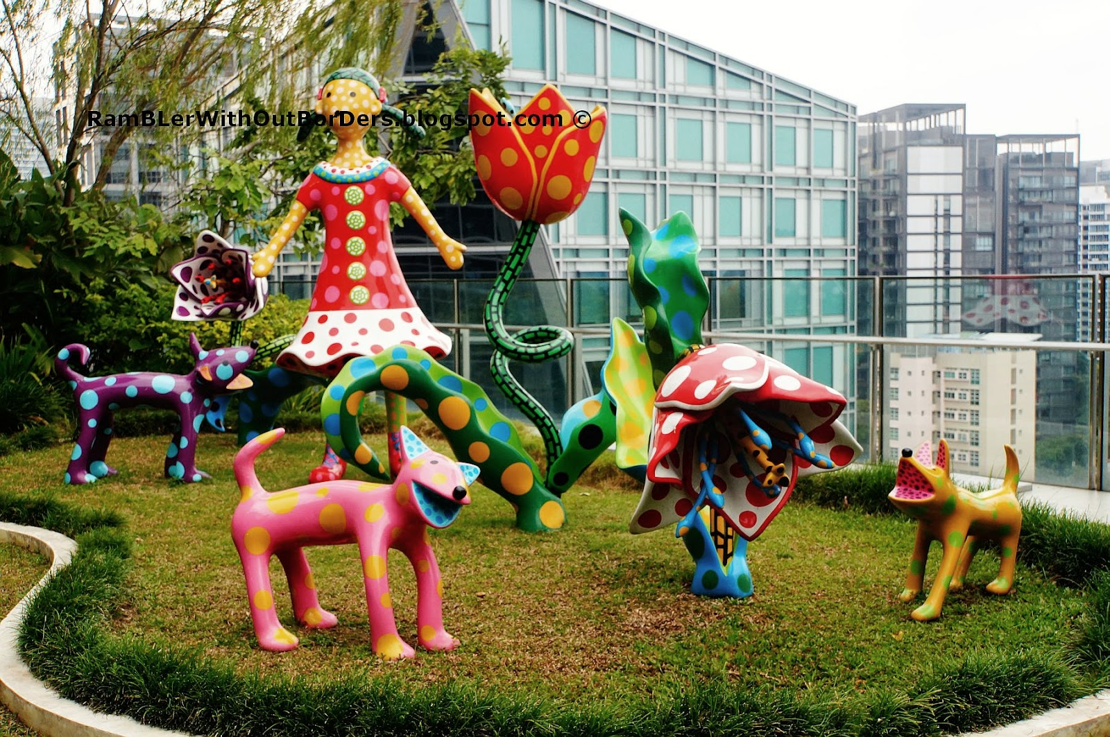 """Let's Go to a Paradise of Tulips"" (2009), Orchard Central, Singapore"