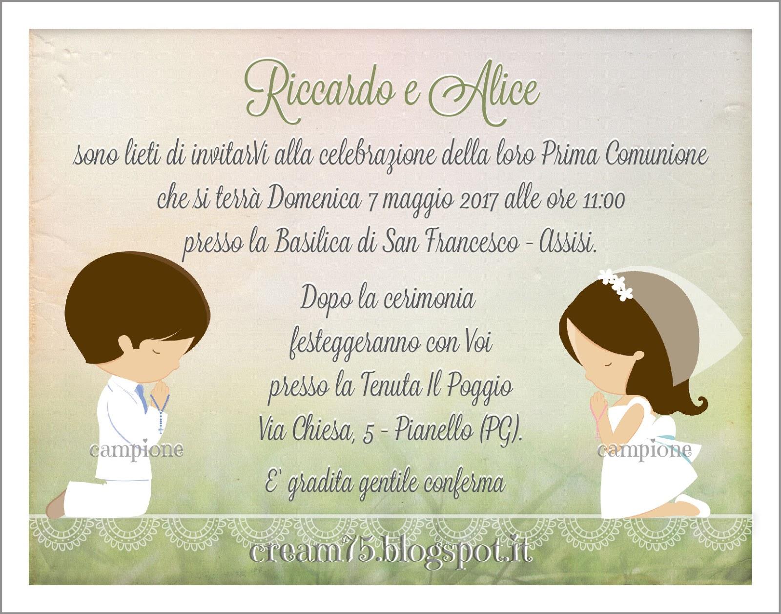 My sweet blog prima comunione invito gemelli - Gemelli diversi cosa vuoi testo ...