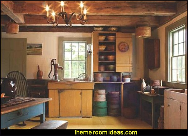 early american farmhouse decorating ideas primitive colonial americana decorating