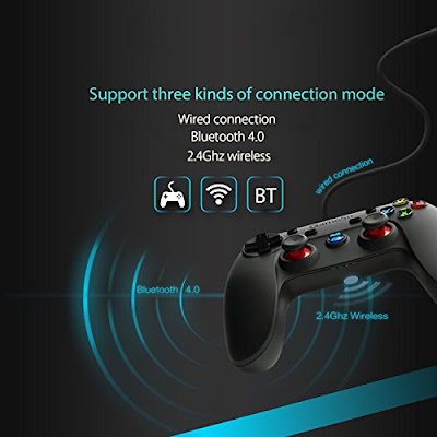 3 In One 2.4Ghz Wireless, Bluetooth & Wired Game Controller Gamepad For Galaxy S10