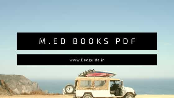 M.ED Books PDF Free Download