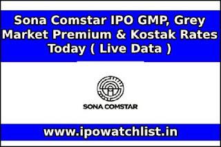 SONA Comstar IPO GMP