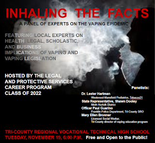 Tri-County to Host Community Forum on Vaping Epidemic - Nov 19