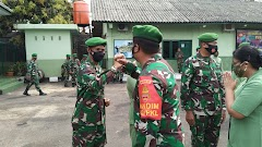 Puluhan Prajurit Kodim 0710/Pekalongan Naik Pangkat