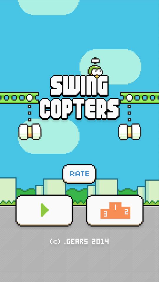 Swing Copters có thể gây tiếng vang như