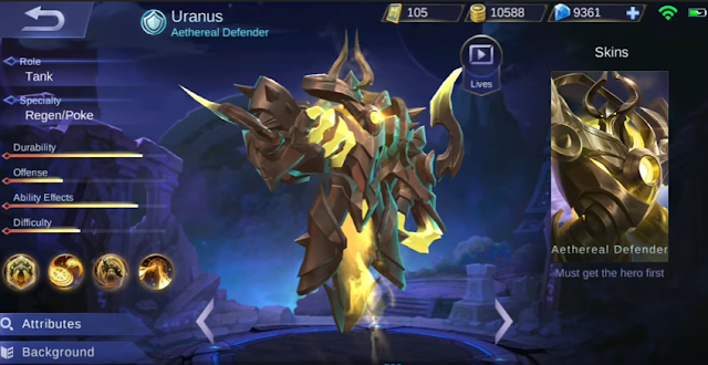 New Hero Uranus Mobile Legends
