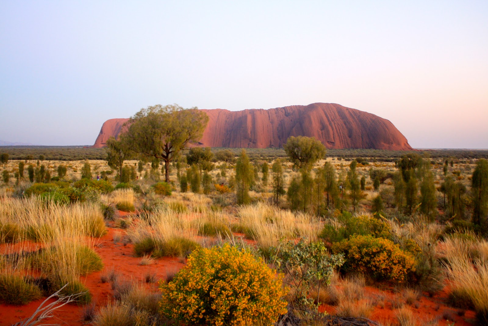 Ayers Rock The Heart Of The Australian Outback The Girl