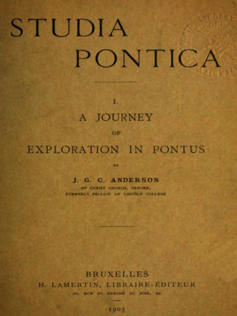 Studia Pontica I. A journey of exploration in Pontus Anderson John George Clark tsitenos.gr