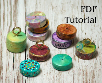 round chunky paper bead tutorial digital download