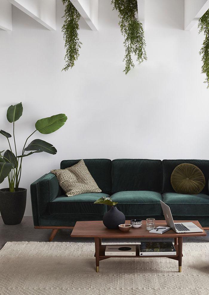 cute boho living room idea