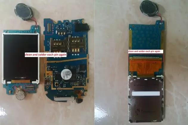 Cara Memperbaiki Samsung GT-E 1272 LCD Blank Putih